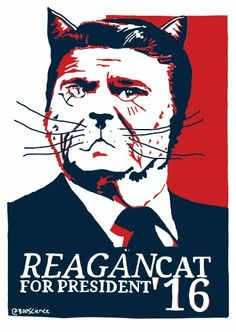 ReaganCat by Anthony Pego