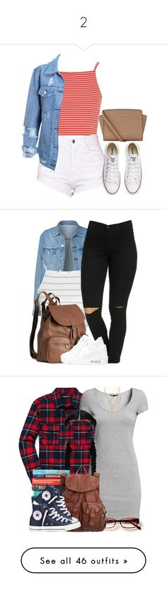 """""""2"""" by cassycortez2002 ❤ liked on Polyvore featuring Topshop, Converse, MICHAEL Michael Kors, Glamorous, H&M, NIKE, 21 Men, dELiA*s, The Row and Givenchy"""