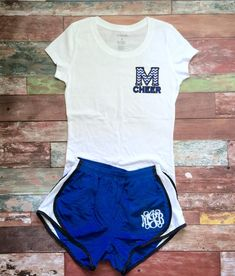 $22 Monogram Running Shorts - Monogram Athletic Shorts - Personalized Cheer Shorts - Team Discounts #cheerleading #ad