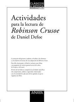 Anaya: Actividades para la lectura de Robinson Crusoe de Daniel Defoe