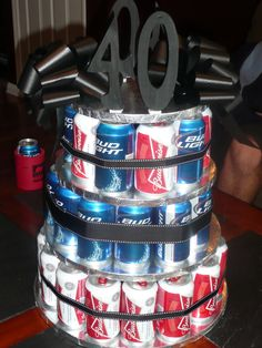 Beer cake for my brother's 40th!