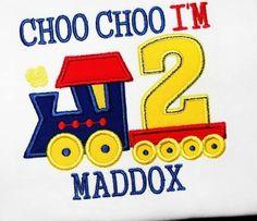 Chop choo I'm 2!