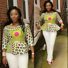 Collection of the most beautiful and stylish ankara peplum tops of 2018 every lady must have. See these latest stylish ankara peplum tops that'll make you stun African Fashion Ankara, Latest African Fashion Dresses, African Dresses For Women, African Print Dresses, African Print Fashion, Africa Fashion, African Attire, African Wear, African Prints
