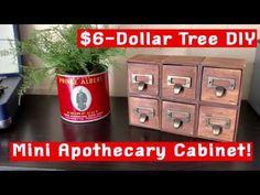Apothecary Decor, Apothecary Cabinet, Easy Diy Room Decor, Diy Bathroom Decor, Dollar Tree Decor, Dollar Tree Crafts, Pallet Crafts, Diy Cabinets, Diy Furniture