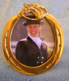 $25 Brass Equestrian Photo Frame  Equine Foxhunt decor