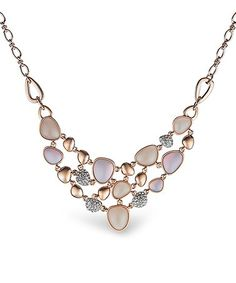 Rose Gold Cluster Drop Necklace #zulily #zulilyfinds
