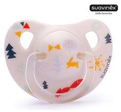 "SUAVINEX ""LITTLE LUXURIES"" Nr. 3302703 - 1x Pacifier Soother Dummy Anatomical Latex Teat/ WHITE (6m+)"