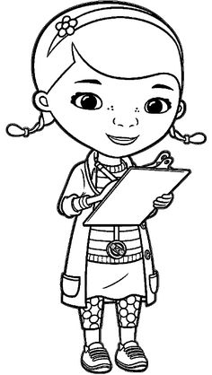 dottie coloring page