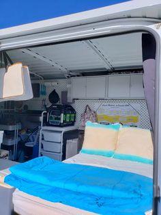 Van Conversion Ikea, Cargo Van Conversion, Sprinter Van Conversion, Camper Conversion, Rv Sofa Bed, Ford Transit Connect Camper, Kangoo Camper, Ikea Raskog, Build A Camper Van