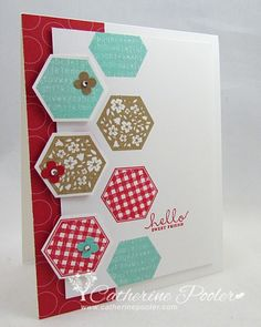 The colors here are so fresh and fun!  Visit my blog to see the sketch that inspired this card. http://catherinepooler.com/2013/07/stampnation-challenge-92/  #stampnation  #stampinup