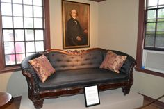 Inside of Hawthorne house House Of Seven Gables, Hawthorne House, Nathaniel Hawthorne, Next Door, Lounge, Couch, History, Furniture, Home Decor