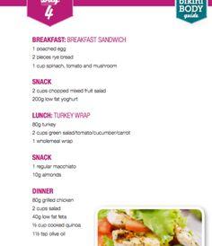 Cucumber Tomato Salad, Fruit Salad, Clean Eating Meal Plan, Clean Eating Recipes, Turkey Wraps, Kayla Itsines, Rye Bread, Mixed Fruit, Bbg