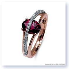 Draw wanted attention with this uniquely designed right-hand ring.  Crafted from 18K white and rose gold, the center stone features a vivacious pink tourmaline with rose gold serving as the base.  Beaming across the stone are white diamonds set in white gold for an elegant and pristine look. #MSImagines #MarkSilversteinImagines