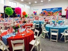 dr seuss themed party table decor ~ ideas
