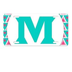 AnnaStoree Personalized Monogrammed Aluminum Metal License Plate Auto Tag License Plate Covers, Aluminum Metal, Car Accessories, Plates, Auto Accessories, Licence Plates, Dishes, Plate, Dish