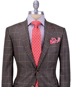 Love this Purple Plaid with Yellow Windowpane Sportcoat, Purplw Striped Shirt Watermelon accents