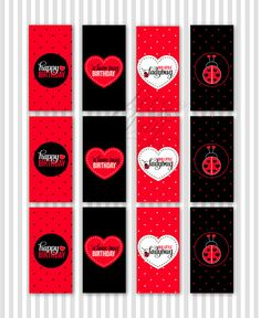 Ladybug Party PRINTABLE DIY Candy Bar Wrappers by by lovetheday, $8.00
