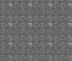 chalkboard geometry fabric by saltlabs on Spoonflower - custom fabric