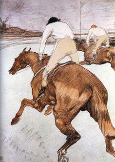 "Henri De Toulouse Lautrec 1899 ""The Jockey"""
