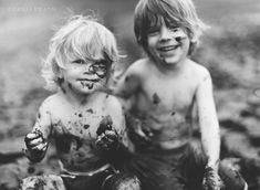 awelltraveledwoman:  This looks like a younger version of my boys. Always muddy…