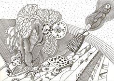 """""""yesterdays dream"""", #Zeichnung #Pigmenttusche (#PITT #artist #pen Faber-Castell ) auf #Hahnemühle #Papier """"Nostalgie"""", 190 g/m2 21 x 30 cm, © #matthias #hennig 2015    """"yesterdays dream"""", #india #ink #drawing (#PITT #artist #pen Faber-Castell ) on #Hahnemuehle #paper """"Nostalgie"""",190 g/sqm 21 x 30 cm, © #matthias #hennig 2015"""