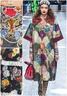 Dolce & Gabbana – Fall 2017 – RTW – Milan Fashion Week – Print & Pattern Highlight   Patternbank