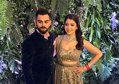 Newlyweds #ViratKohli & #AnushkaSharma like a million bucks at their #MumbaiReception.  Like & Share if you agree.  Pic Courtesy: Twitter