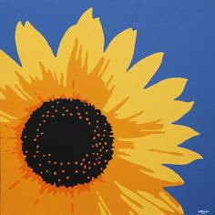 The gallery for --> Acrylic Sunflower Painting