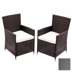 2er-Set Stühle im Rattan-Look