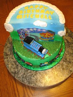 Mitchell's Thomas the Train 3rd Birthday Cake (top)