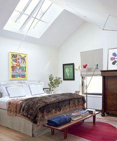 Contemporary Bedroom by Milly de Cabrol Ltd. and Risteárd Keating in New York, New York
