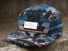 DLHeadwear-Omega5PanelCampCapwinteraztecオメガ5パネルキャンプキャップウィンターアズテックアステカエスニック民族柄dl002001-wlnパックpackジェットキャップjet帽子