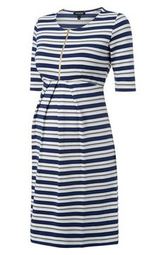 Women's Isabella Oliver 'Beaumont' Stripe Maternity Dress