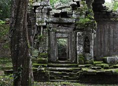 The lost city of Angkor Wat - once an ancient Hindu temple. Located in Cambodia--Photo by upsidedownglass