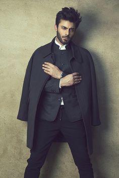 Silk & Lace & Wool, highfashionpakistan: Fawad Khan for Republic by. Fawad Khan Beard, Indian Star, Sr K, Standing Poses, Cozy Fashion, Men's Fashion, Groom Outfit, Fashion Poses, Pakistani Actress