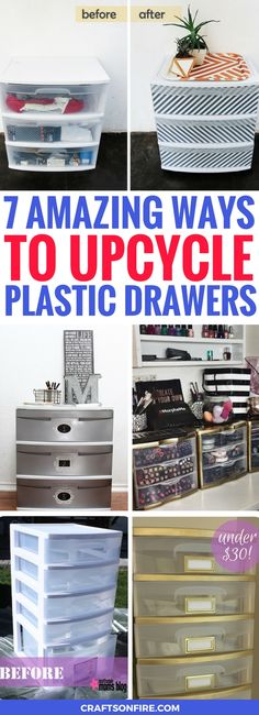 Totally IN LOVE with these amazing ways to upcycle plastic drawers. They're usually very boring and bland but these diy projects make them look stunning for your home decor. Definitely going to be trying the rest diy plastic drawers soon.