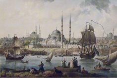 Jean-Baptiste Hilaire, Yeni Cami dt le port d'Istanbul - 1789, Musée de Pera, Istanbul