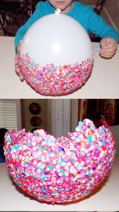 ideas para decorar fiestas infantiles bandejas de confetti