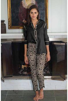 Gretchen Scott Gripe Less Biltmore Pant in Black and Tan