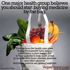 One of the biggest health care groups in the US is getting patients off meat and away from diabetes and heart disease. ~ courtesy @veganstreet @plantpowerz