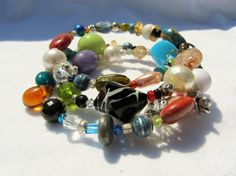 Large Chunky Vintage and Recycled Jewelry by cloverandrubies, $18.00