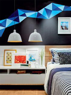 Neto Porpino elege cores fortes para detalhes do quarto de casal