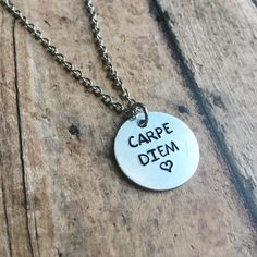 Stamped necklace for her Graduation jewelry for her Hand stamped necklace for sister Graduation necklace for her Mantra jewelry for her by ImpressionsWorld on Etsy