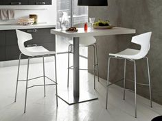 1000 ideas about table haute cuisine on pinterest tall - Table bar murale ...