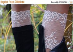 Fall sale Womens Boot Socks Womens Lace Boot by coloratamarmellata