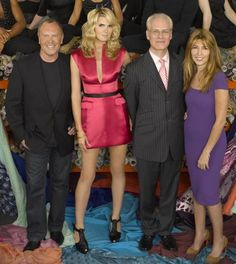 """Project Runway - Michael Kors, Heidi Klum, Tim Gunn & Nina Garcia of """"Project: Runway""""; my wife got me into this show, and I really enjoy the creativity and resourcefulness of the contestants..."""