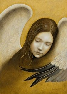 """Peace"" Angel Painting by Nanne Nyander. # 1 in the series ""Angels of Virtues""  http://nannenyander.se"