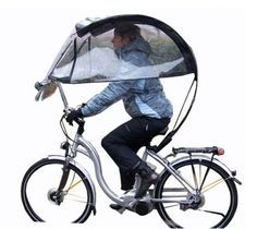 The Veltop Classic offer bicycle commuters some shelter from inclement weather. People will laugh but you'll be comfy.