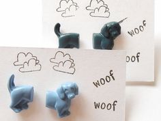 Dachshund Dog Sausage Dog Earrings by sweetiepips on Etsy Etsy Christmas, Dachshund Dog, Brighton, Sausage, Place Card Holders, Unique Jewelry, Handmade Gifts, Dogs, Earrings