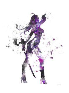 Psylocke ART PRINT illustration Superhero Marvel by SubjectArt
